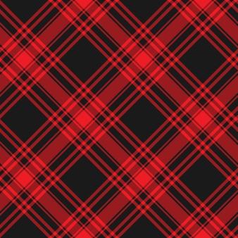 Menzies tartanowy czarny czerwony kilt tekstura tkanina. wzór