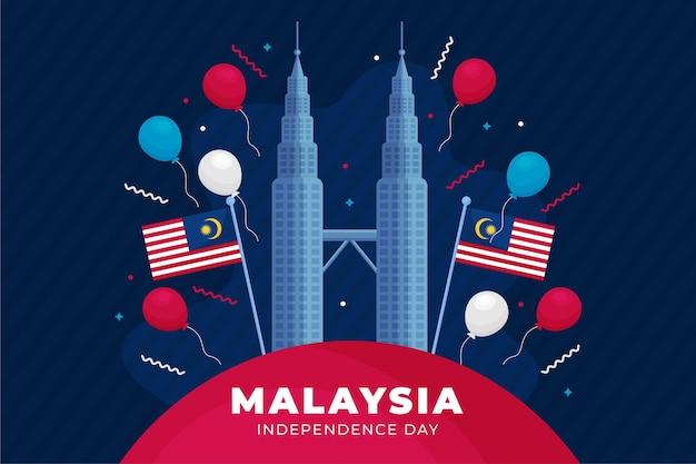 Merdeka malezja dzień niepodległości tło