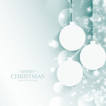 Merry christmas kulki dekoracji z efektem bokeh