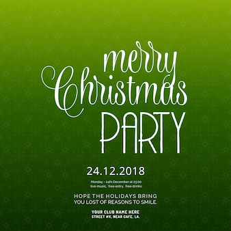 Merry christmas party zaproszenie w tle