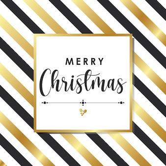 Merry christmas post z tłem w paski