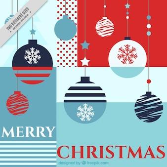 Merry christmas tła z geometrycznych kształtów