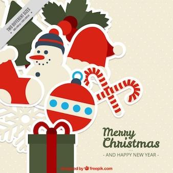 Merry christmas tła z pięknymi ornamentami