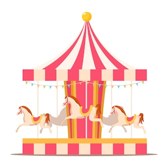 Merry go round vintage karuzela konie