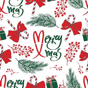 Merry xmas bez szwu deseń