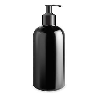 Męska butelka z pompką kosmetyczną makieta szablon wektora dozownika żelu do mycia