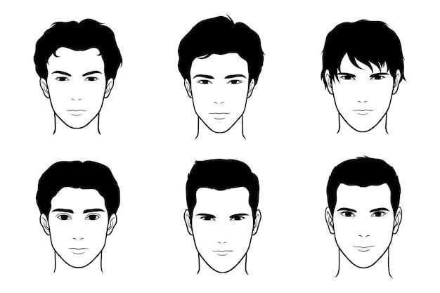 Męska sylwetka twarzy