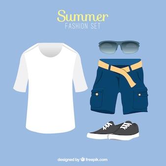 Męski letnie ubrania