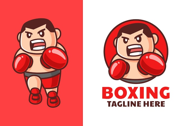 Męski projekt logo boksera