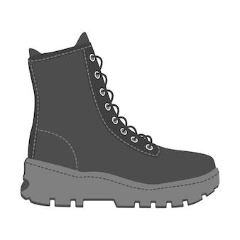 Męskie buty wysokie trampki na białym tle. mężczyzna mężczyzna sezon buty ikony. ilustracja wektorowa obuwia