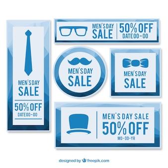 Męskie transparenty sprzedaży dobę