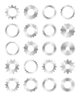 Metal przekładnia na białym tle