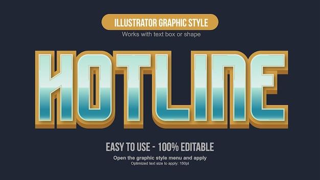 Metaliczna złocisto-zielona typografia sportowa
