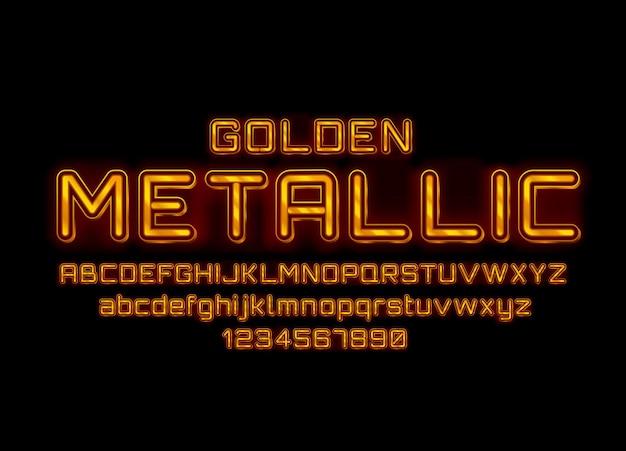 Metaliczna złota czcionka