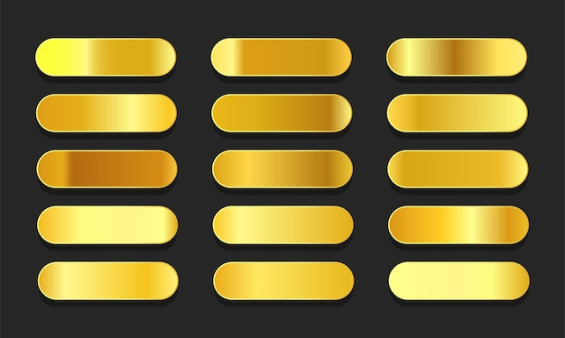 Metaliczne gradienty z żółtego złota