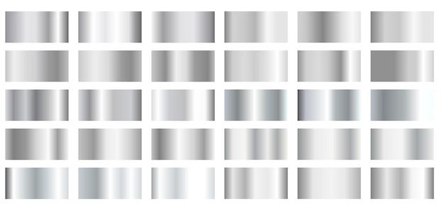 Metaliczne srebrne gradienty