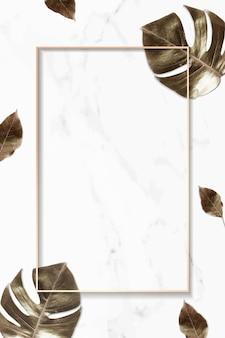 Metaliczne złote liście w tle