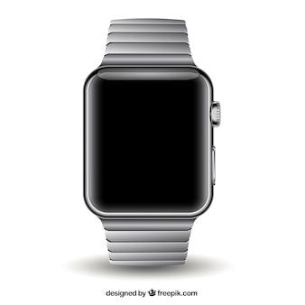 Metalicznej nowoczesny zegarek