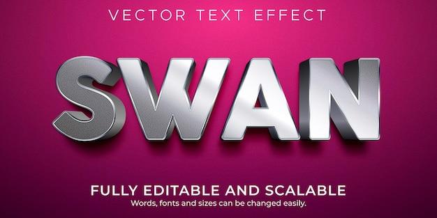 Metaliczny edytowalny efekt tekstowy, luksusowy i elegancki styl tekstu