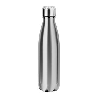 Metalowa butelka na wodę. kolba ze stali nierdzewnej wielokrotnego użytku