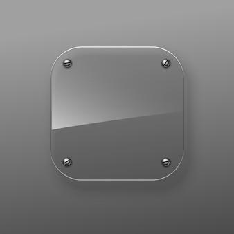 Metalowa deska ze śrubami
