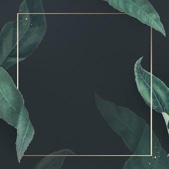 Metalowa rama z gałązkami brzoskwiniowymi wzorzystymi kwadratowymi szablonami społecznymi