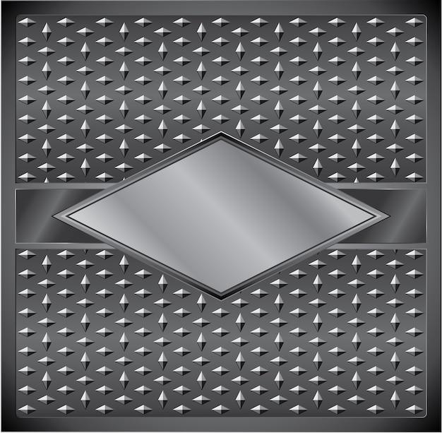 Metalowa ramka w kształcie rombu