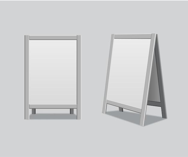 Metalowa tablica ogłoszeń menu, elementy reklamowe.