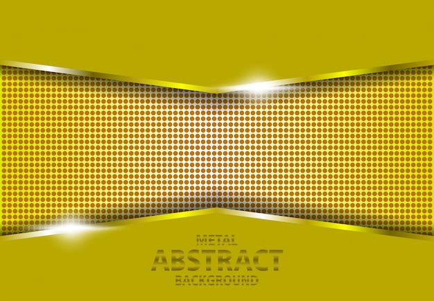 Metalowe 3d złote tło gradientowe