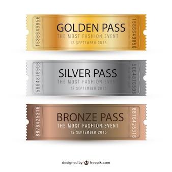 Metalowe bilety