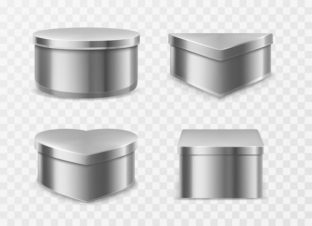 Metalowe blaszane pudełka na kawę, herbatę lub cukierki
