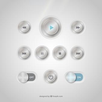 Metalowe przyciski kolekcji