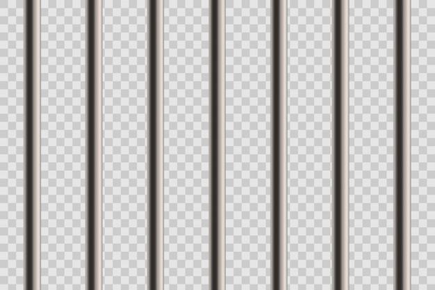 Metalowe realistyczne szczegółowe pręty więzienne.