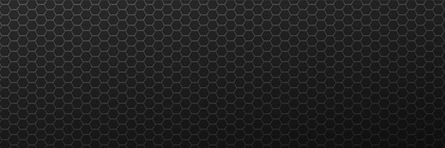 Metalowe sześciokątne czarne tło minimalizm geometryczna siatka wielokątna