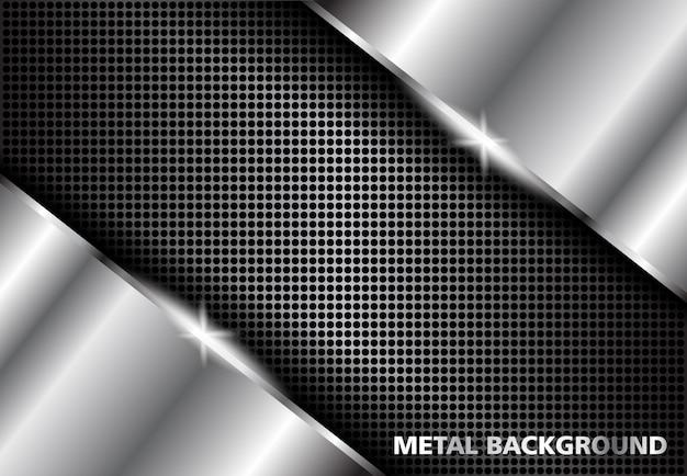 Metalowe tło srebrne, ciemne srebro abstrakcyjne