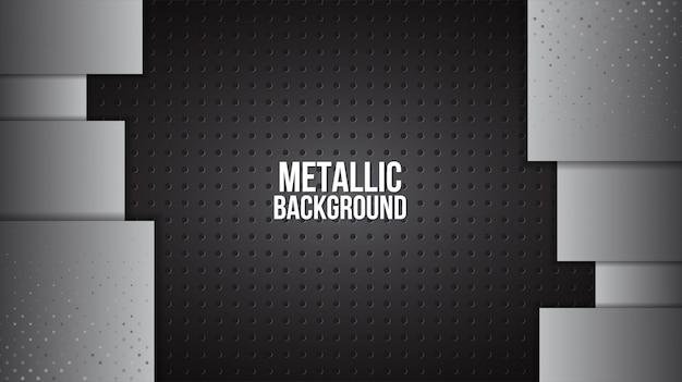Metalowe tło tekstura aluminiowe blachy stalowe streszczenie szablon wektor.