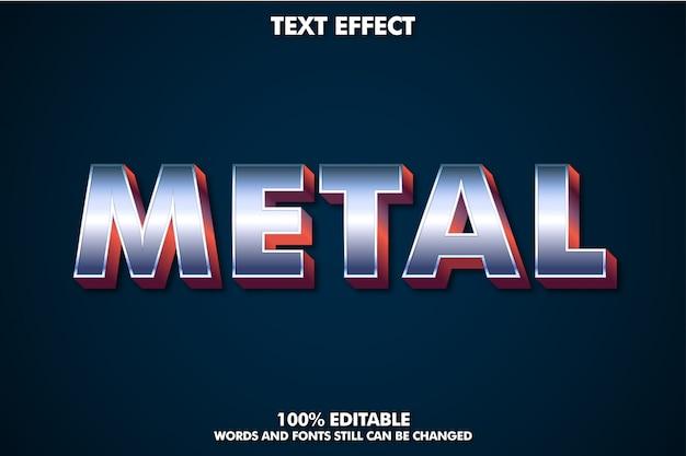 Metalowy efekt tekstowy z czerwonym wytłoczeniem dla nowoczesnego designu