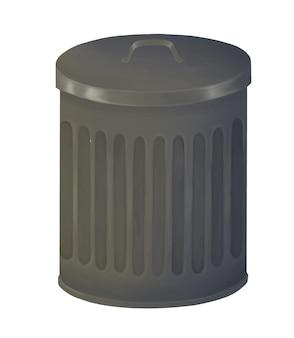 Metalowy kosz na śmieci