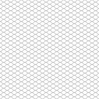 Metalowy łańcuch ogrodzenia bez szwu na białym tle
