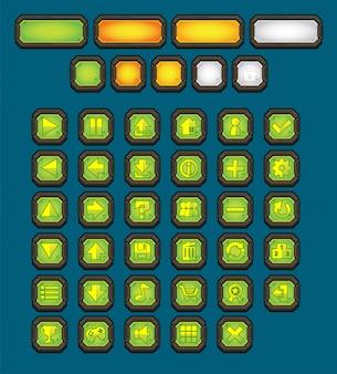 Metalowy zestaw przycisków gry