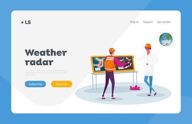 Meteorolog przedstawiający informacje o pogodzie