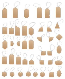 Metki, puste etykiety, metki sprzedaży i etykiety
