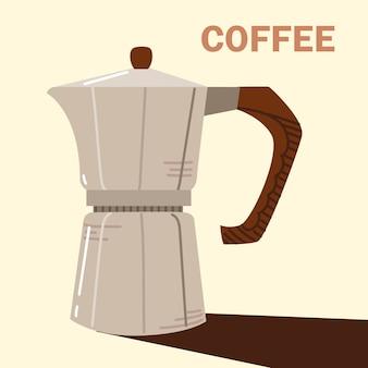 Metody parzenia kawy, gorący napój moka pot