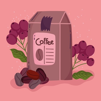 Metody parzenia kawy, pakowanie nasion produktu i ziarna suchego