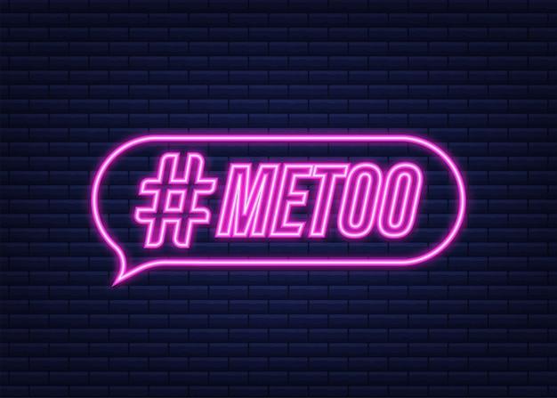 Metoo hashtag czwartkowy symbol powrotu. neonowa ikona. czas ilustracja wektorowa.