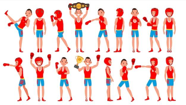 Mężczyzna ćwiczący boks