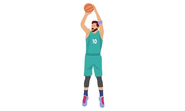 Mężczyzna gra w koszykówkę