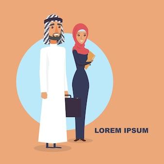 Mężczyzna i kobiety arabscy ludzie.