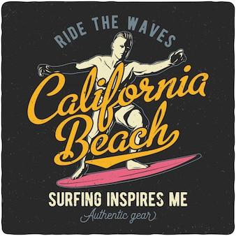 Mężczyzna jedzie na surfing desce