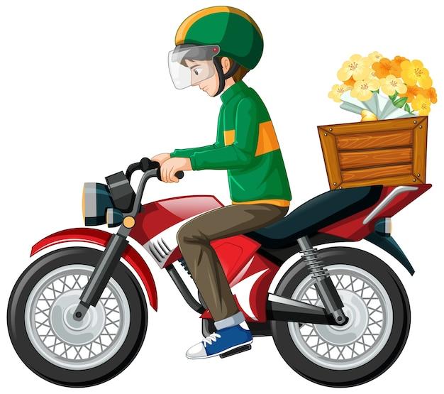 Mężczyzna jedzie skuter